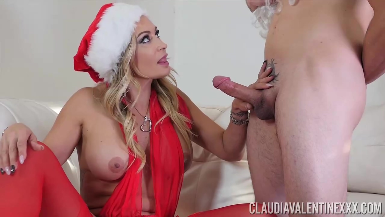 Claudia Valentine Is Wearing Hot Christmas Outfit While Having Steamy Xxx With Her New Lover