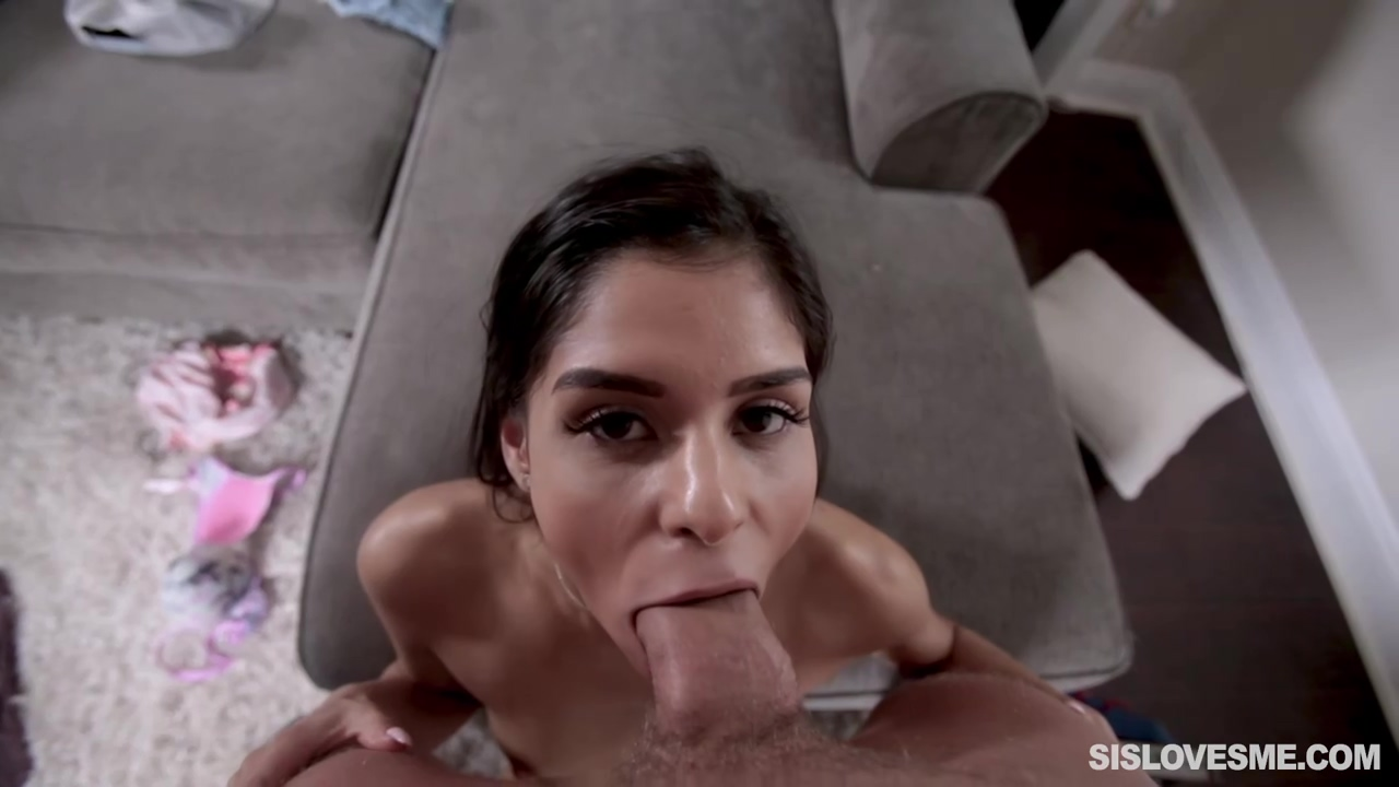 Skinny Honey Katya Rodriguez Is Licking Her Seductive Partners Large Cock While In His Apartment