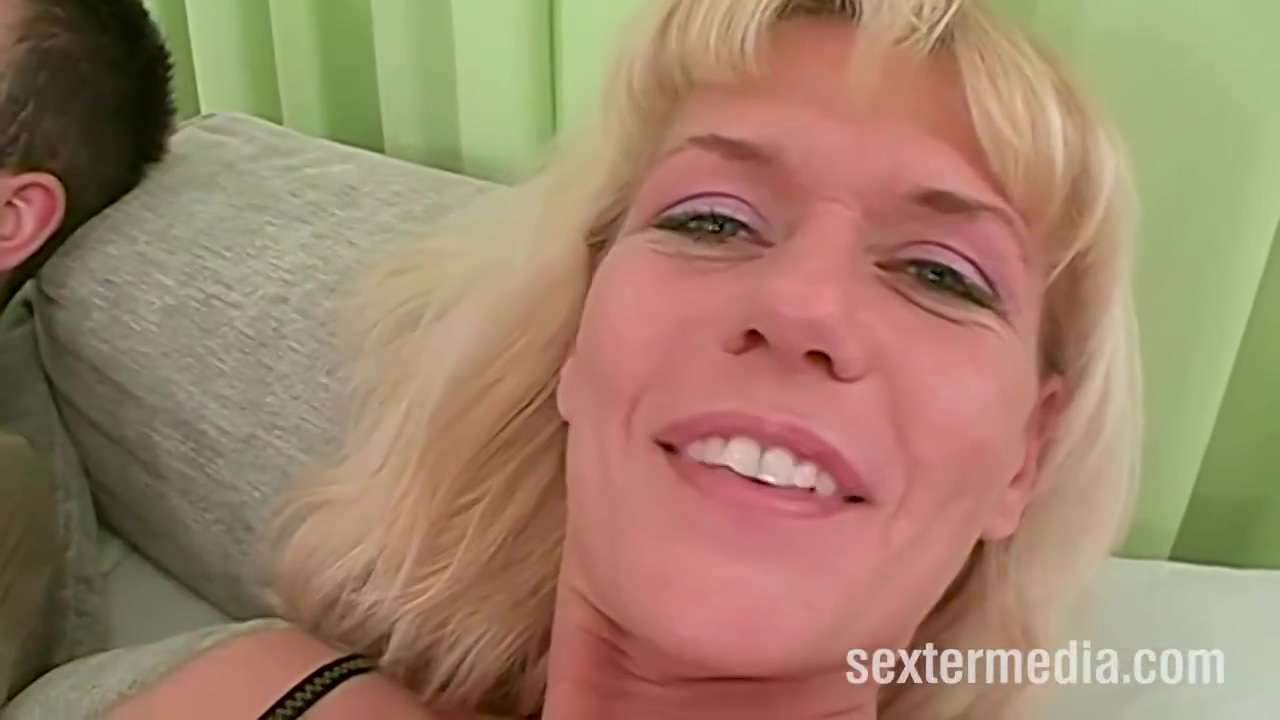 Slutty Blonde Mature Was Wearing Only Black Stockings While She Was Getting Fucked In The Booty