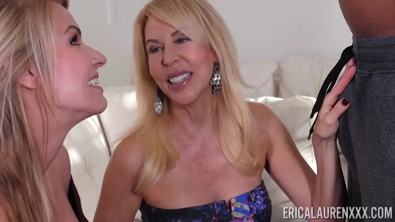 Erica Lauren And Rachael Cavalli Are Sucking A Huge Black Cock During An Interracial Group