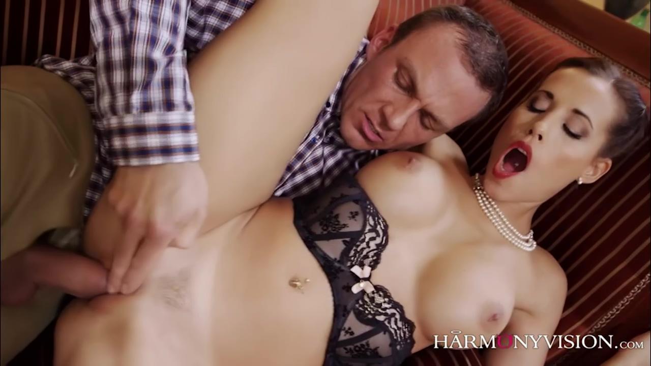 A Hot Brunette Milf Enjoying Hard Sex