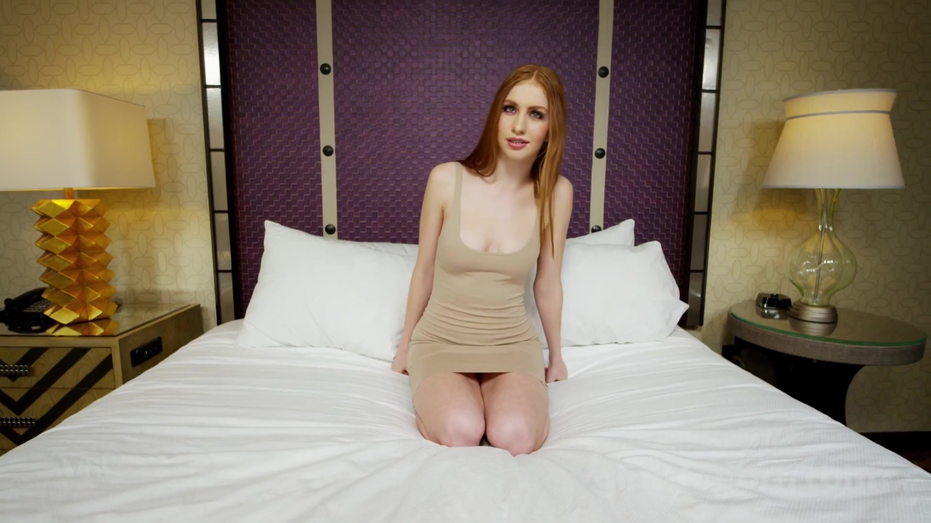 Red Head Has Her Mouth Full With Spunk