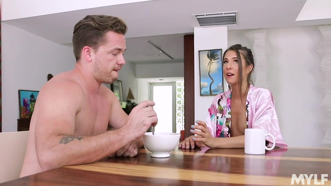 Slim Brunette With Tiny Boobies Tara Ashley Likes To Fuck Her Roommate Instead Of Having Breakfast