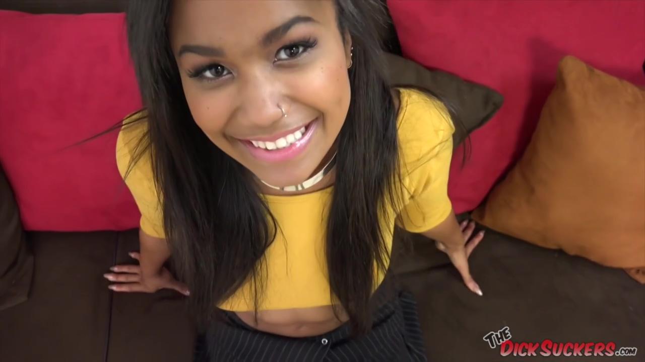 Sexy Black Teen Loni Legend Doing A Pov Oral