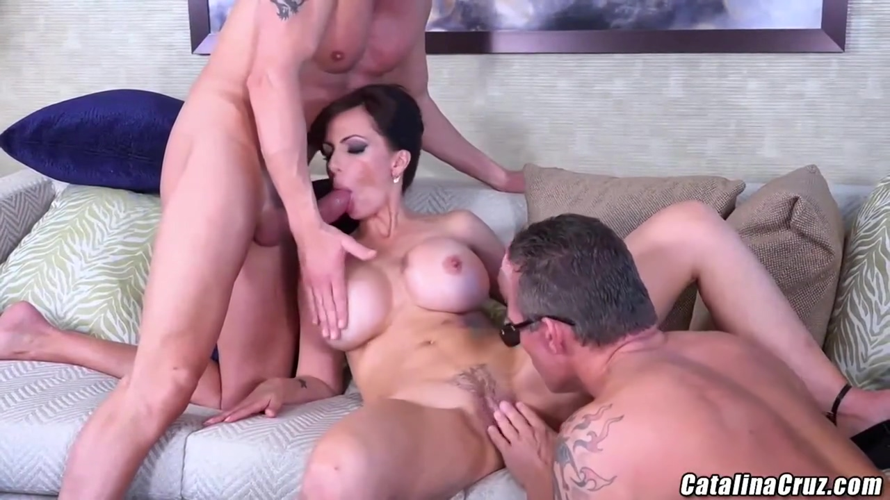 Great Titted Lady Catalina Cruz Knows How To Handle 2 Sexy Guys At The Same Time