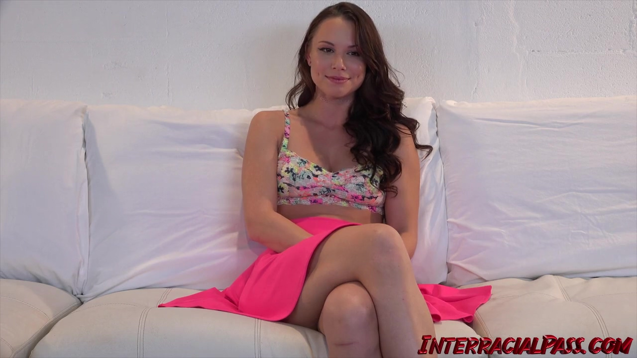 Charming Brunette Aidra Fox Has A Thing For Black Guys And Cant Wait To Fuck Dredd