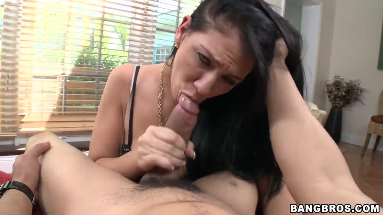 Hot and lusty Madison Rose sucks a hard rod in pov