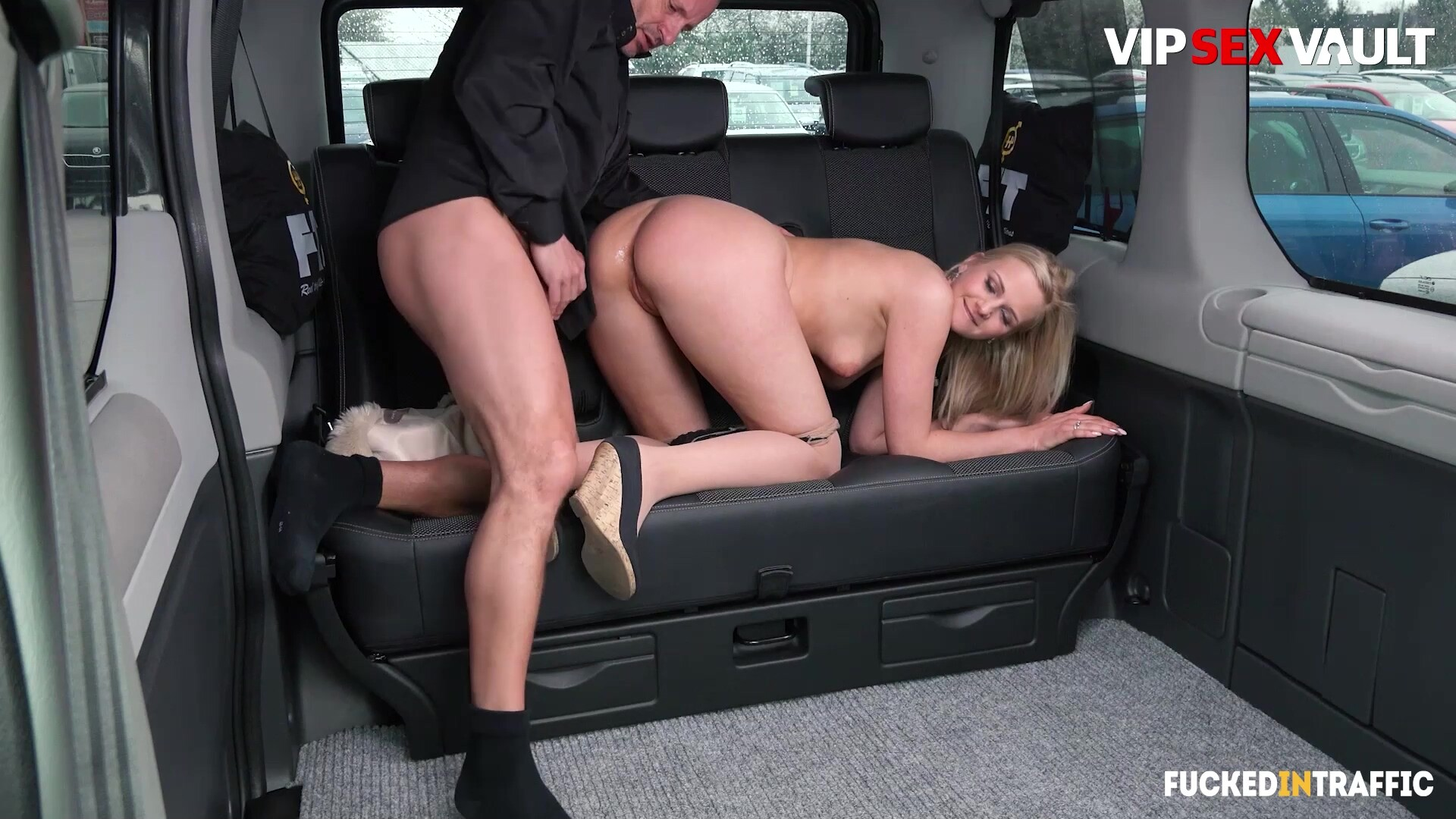 Katie Sky Kinky Blonde Rides Big Penis On Hot Taxi Ride