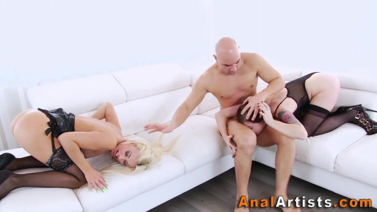 Skanks Get Butt Fucked And Throat