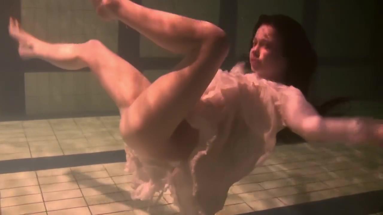 Brunette Teen Kristina Andreeva Swims Naked In The Pool