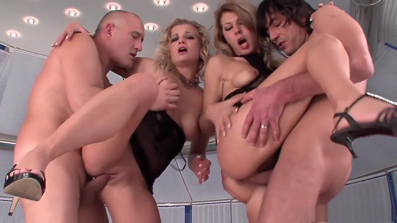 Fabulous pornstars Kristi Lust and Sabina Black in best lingerie, group sex porn video