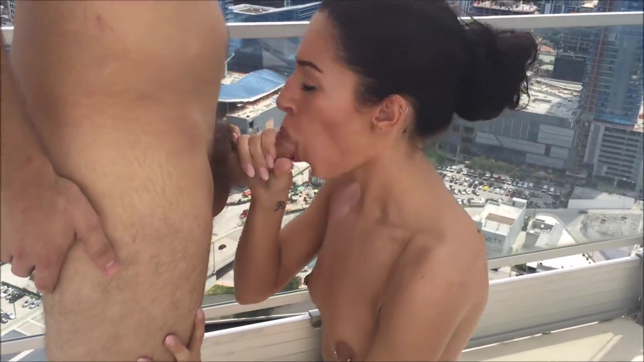 Cameron Canela gets fucked by Pornhub subscriber on Miami Penthouse Rooftop